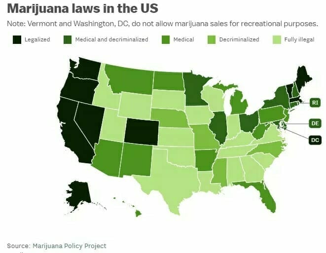 Marijuana laws in the US