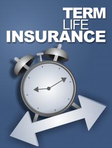 Term life insurance clock