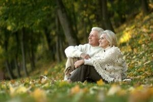 Senior couple with burial insurance