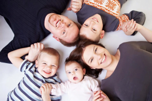 Family with Term Life Insurance